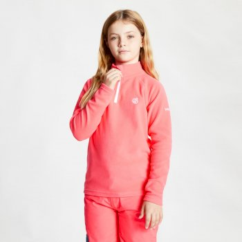 Kids' Freehand Half Zip Lightweight Fleece Neon Pink