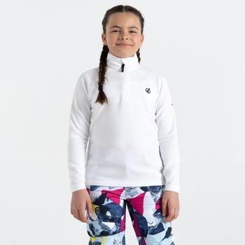 Polaire légère Junior FREEHAND avec ouverture 1/2 zip Blanc