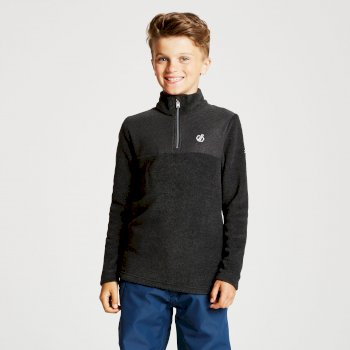 Kids' Mountfuse Half Zip Fleece Charcoal Grey