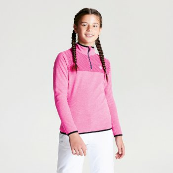 Kids' Mountfuse Half Zip Fleece Cyber Pink
