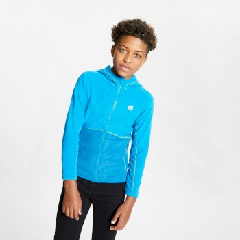 Kids' Genesis Full Zip Hooded Fleece Methyl Blue Petrol Blue Marl