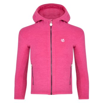 Kids' Genesis Full Zip Hooded Fleece Active Pink