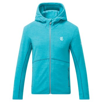 Kids' Genesis Full Zip Hooded Fleece Ceramic Blue