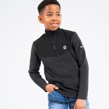 Kids' Mountfuse II Half Zip Fleece Charcoal Grey