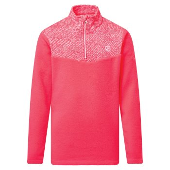 Kids' Mountfuse II Half Zip Fleece Neon Pink