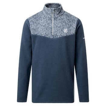 Kids' Mountfuse II Half Zip Fleece Dark Denim