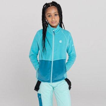 Kids' Witty Zip Through Fleece  Azure BlueDark Methyl