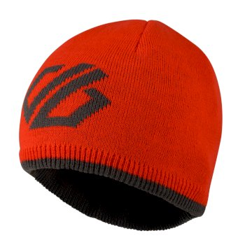 Kids' Frequent Beanie Hat Fiery Red Ebony