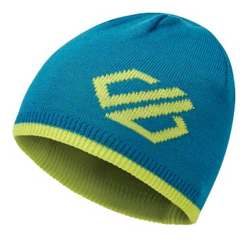 Kids' Frequent Beanie Hat Petrol Blue Lime Punch