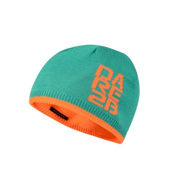 52fa1033 Kids Thick Cuff Reversible Beanie Hat Nordic Green