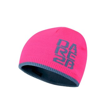 7698d01d Kids Thick Cuff Reversible Beanie Hat Cyber Pink