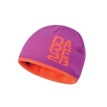 Kids Thick Cuff Reversible Beanie Hat Ultra Violet Purple