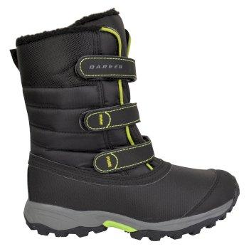 Kids Skiway Ski Boots Black Lime Green