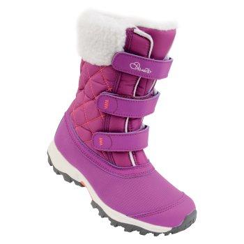 Kids Skiway Ski Boots Ultra Purple Fiery Coral