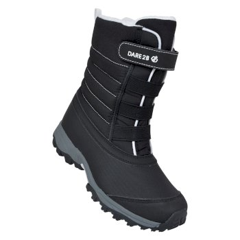 Kids' Skiway II Fleece Lined Snow Boots Black White