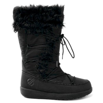 Kids' Cazis Fleece Lined Snow Boots Black