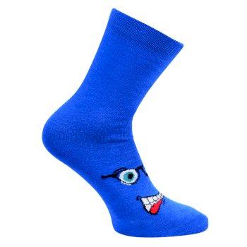 Kids' Vigor Ski Socks Oxford Blue Face
