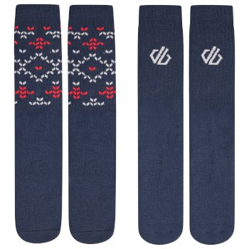 Chaussettes de ski Junior THERMAL en pack de 2 Bleu
