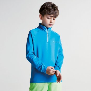 Kids Ricochet III Core Stretch Midlayer Fluro Blue