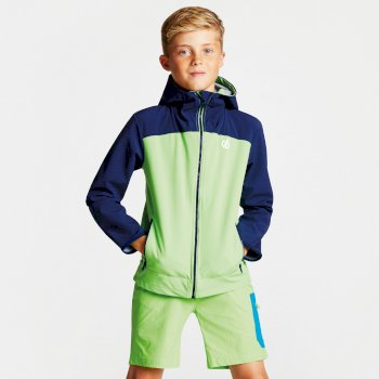 Kids' Gifted Hooded Softshell Jacket Jasmine Green Clear Water Blue