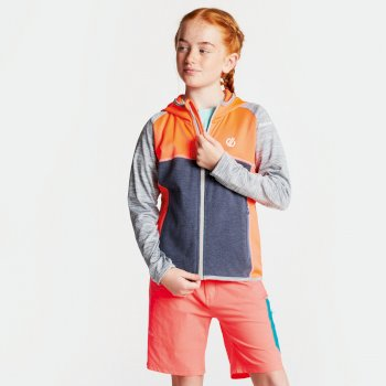 Veste technique sous couche Junior CURATE CORE STRETCH Fiery Coral Gravity Grey