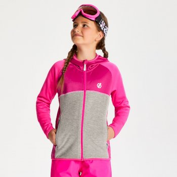 Kids' Curate Core Stretch Midlayer Fuchsia Cyber Pink