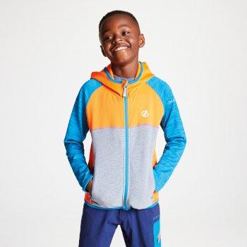 Kids' Curate Core Stretch Midlayer Vibrant Orange Atlantic Blue