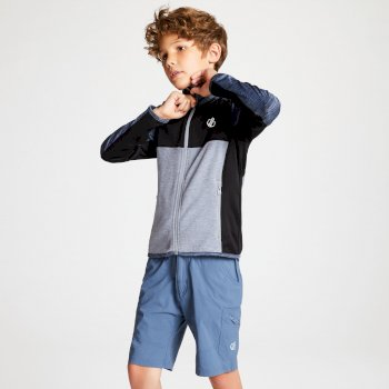 Kids' Exceed Core Stretch Midlayer Meteor Grey Black