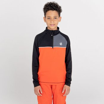 Kids' Formate Recycled Lightweight Core Stretch Midlayer Amber Glow Black
