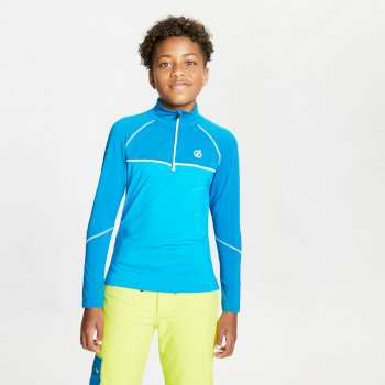Kids' Formate Core Stretch Half Zip Midlayer Petrol Blue Methyl Blue
