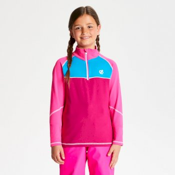 Kids' Formate Core Stretch Half Zip Midlayer Fuchsia Cyber Pink