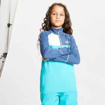 Kids' Formate Core Stretch Half Zip Midlayer Dark Denim Ceramic Blue