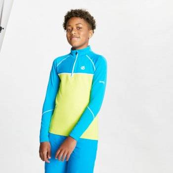 Kids' Formate Core Stretch Half Zip Midlayer Methyl Blue Lime Punch