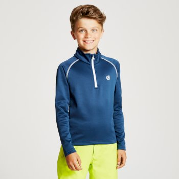 Kids' Consist Core Stretch Half Zip Midlayer Admiral Blue