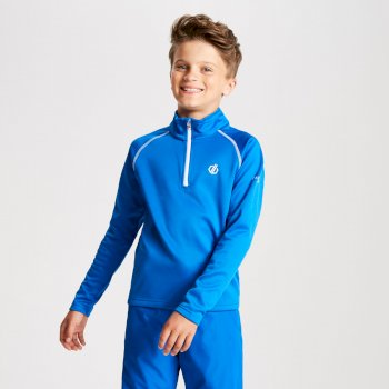 Kids' Consist Core Stretch Half Zip Midlayer Oxford Blue
