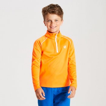 Kids' Consist Core Stretch Half Zip Midlayer Vibrant Orange
