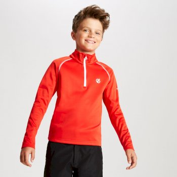 Kids' Consist Core Stretch Half Zip Midlayer Fiery Red