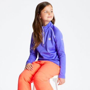 Kids' Consist Core Stretch Half Zip Midlayer Simply Purple