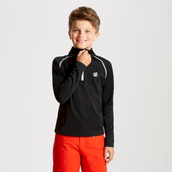 Kids' Consist Core Stretch Half Zip Midlayer Black
