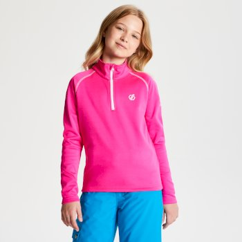 Kids' Consist Core Stretch Half Zip Midlayer Cyber Pink