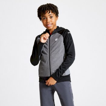 Kids' Twofold Hooded Core Stretch Midlayer Ebony Black