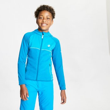 Dare 2b Childrens Ebullient Full Zip Hooded Marl Long Sleeve Fleece