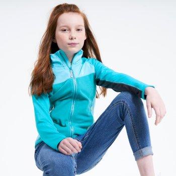 Kids' Except Full Zip Lightweight Core Stretch Midlayer Seabreeze Blue Horizon Blue