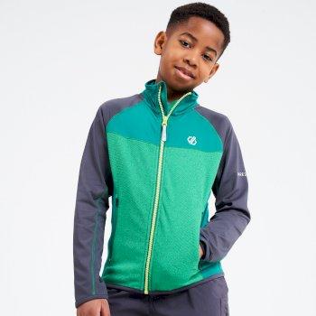 Kids' Except Full Zip Lightweight Core Stretch Midlayer Ultramarine Green Ebony Grey