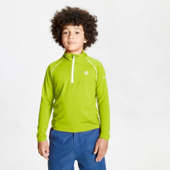 Kids' Consist II Half Zip Lightweight Core Stretch Midlayer Lime Punch
