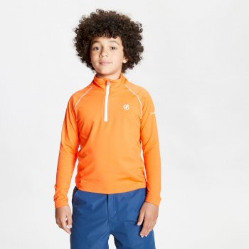 Kids' Consist II Half Zip Lightweight Core Stretch Midlayer Blaze Orange