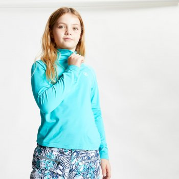 Kids' Consist II Half Zip Lightweight Core Stretch Midlayer Ceramic Blue