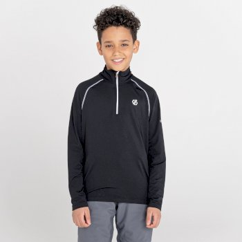 Kids' Consist II Half Zip Lightweight Core Stretch Midlayer Black