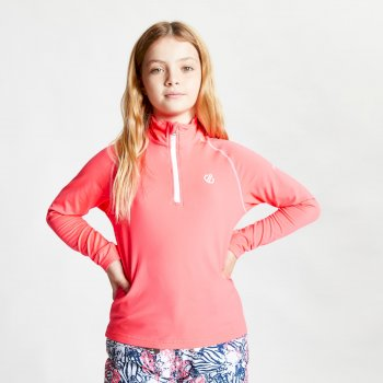 Kids' Consist II Half Zip Lightweight Core Stretch Midlayer Neon Pink