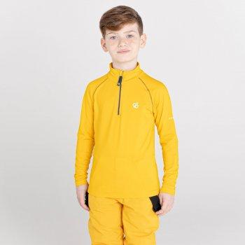Kids' Consist II Recycled Lightweight Core Stretch Midlayer Glowlight Yellow